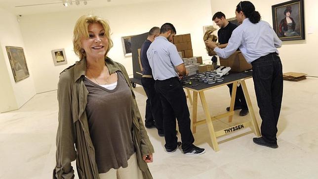 La baronesa supervisa el montaje del museo
