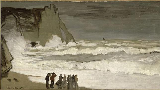 «Grosse mer à Etretat», de Monet, se verá en la muestra del Grand Palais