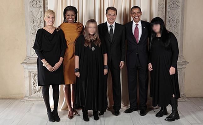 Zapatero, Sonsoles y sus hijas, foto de familia con los Obama en Nueva ...