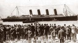 el lusitania en new york