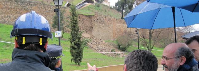 Se derrumba un tramo de la histórica muralla de Toledo