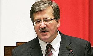 Bronislaw Komorowski, nuevo presidente de Polonia