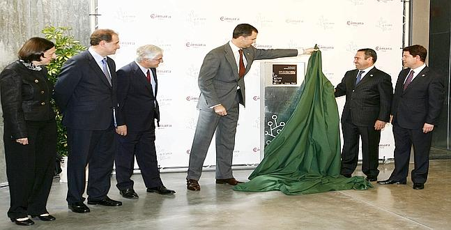 El Príncipe inauguró el «mayor Vivero de Empresas de España» para superar la crisis