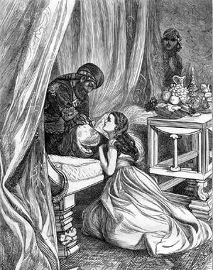 El libro «Las mil y una noches», denunciado en Egipto por indecente Sultan_Pardons_Scheherazade--300x380