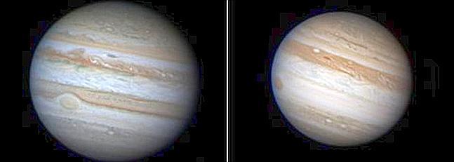 Júpiter pierde una banda