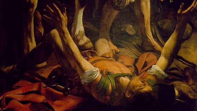 Detalle de «La Conversión de Saulo», obra de Caravaggio