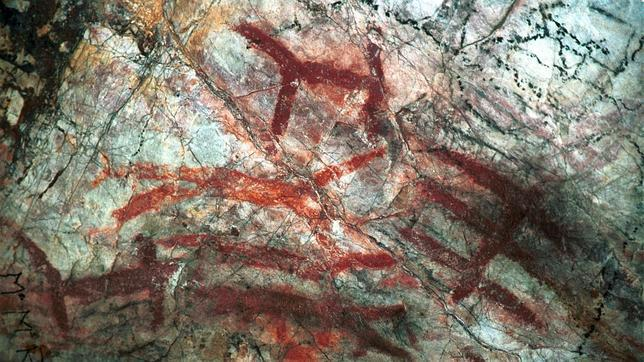En la imagen, trazados de figuras humanas en un poblado neolítico. Valerio Merino