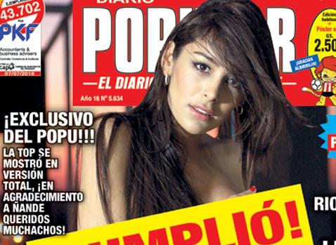 Larissa Riquelme Se Desnuda Finalmente Para Un Periódico De Paraguay