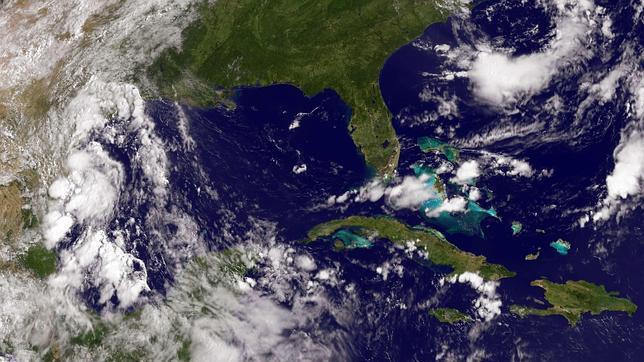 Imágenes del satélite del vertido de petróleo en el Golfo de  México