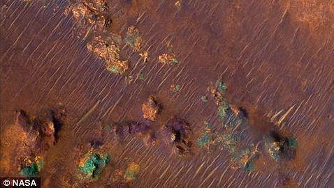 Unas rocas de Marte pueden contener restos de vida