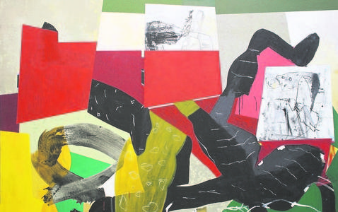 Uno de los cuadros del asturiano, Luis Fega. ABC