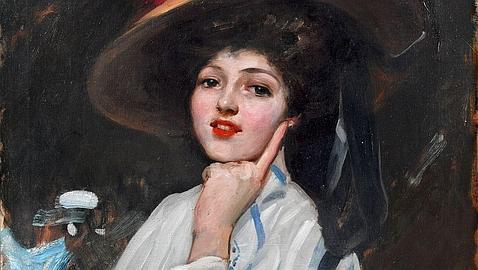 Retrato de Sorolla de la famosa cupletista y actriz de cine española Raquel Meller
