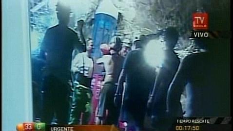 Llegada del primer rescatista en Rescate Mineros