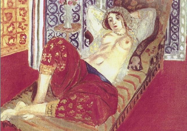 """Odalisca con pantalón rojo"", de Matisse (Museo Pompidou de París). SUCCESSION MATISSE/VEGAP"