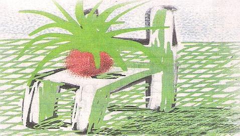 Una de las obras de Hockney hechas con el iPad. EPA