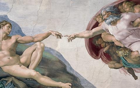 Uno de los frescos de la Capilla Sixtina
