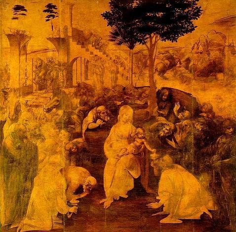 «La Adoración de los Magos», de Leonardo da Vinci. ABC