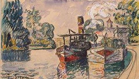 La copia falsa que hizo de un paisaje de Signac. THEARTNEWSPAPER.COM