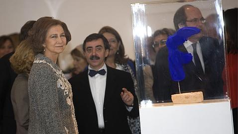 La Reina, durante la visita