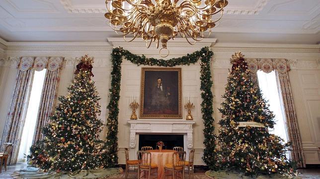 Adornos navide os en la casa blanca - Adornos navidenos casa ...