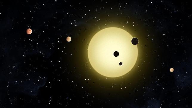 Kepler-10 con rresto de planetas