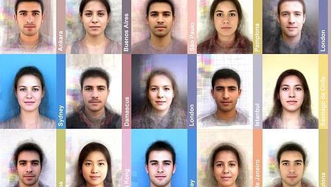 Las caras más comunes en diferentes ciudades del mundo - ABC.es