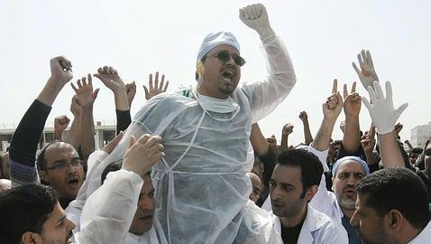 Protestas de médicos en Bahrein