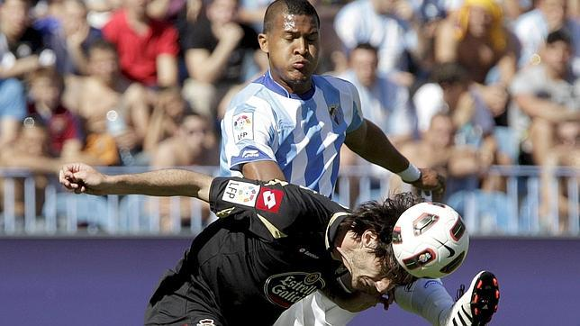 El Deportivo saca un punto con diez que deja tocado al Málaga