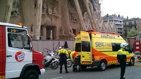 Un perturbado provoca un incendio en la Sagrada Familia
