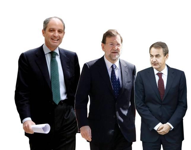 Camps obtiene una valoración superior a la de Rajoy y Zapatero