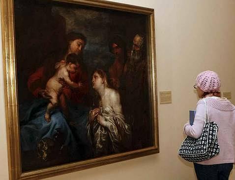 «La Virgen y el Niño con los pecadores arrepentidos», de Van Dyck. EFE