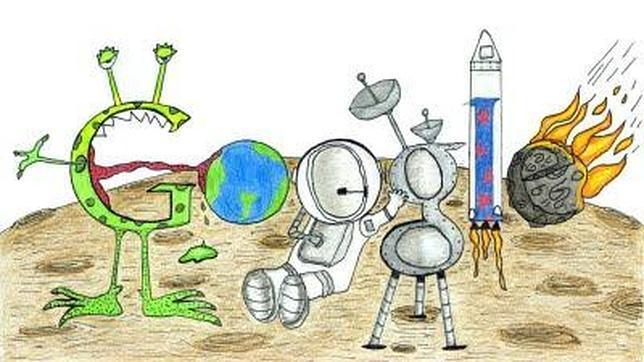 El «doodle» ganador, diseñado por Matteo López