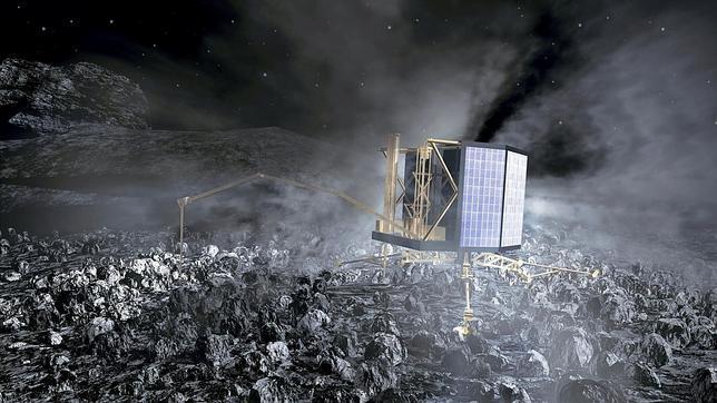 Nave espacial Rosetta impresión 3D