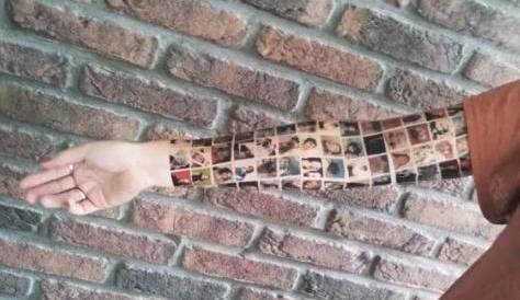 El tatuaje con los 152 amigos de Facebook... es un reclamo publicitario