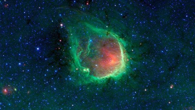 Una gigantesca burbuja verde, descubierta en el espacio