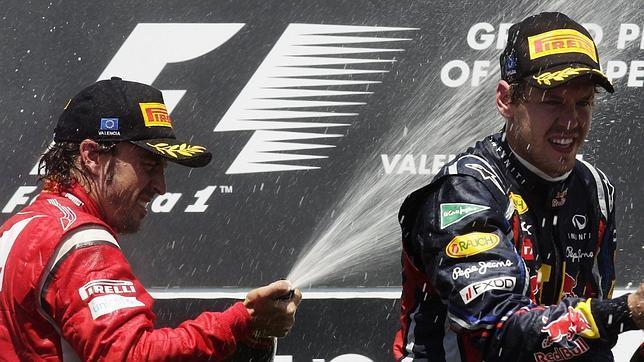 Seis de Vettel ante el mejor Alonso