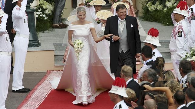 Vestido novia princesa monaco