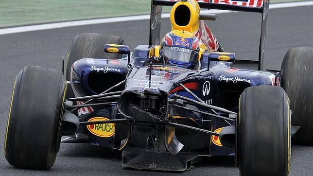 Accidente de Webber y mejor tiempo de Hamilton
