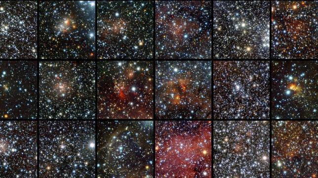 Descubren millares de estrellas escondidas tras nubes de polvo