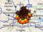 Los disturbios de Inglaterra, en Google Maps