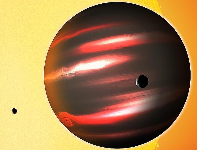 planeta, oscuro, negro, universo, estrellas