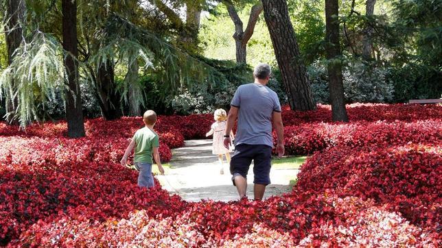 Uno de los jardines que hay dentro del parque el capricho for Jardines el capricho