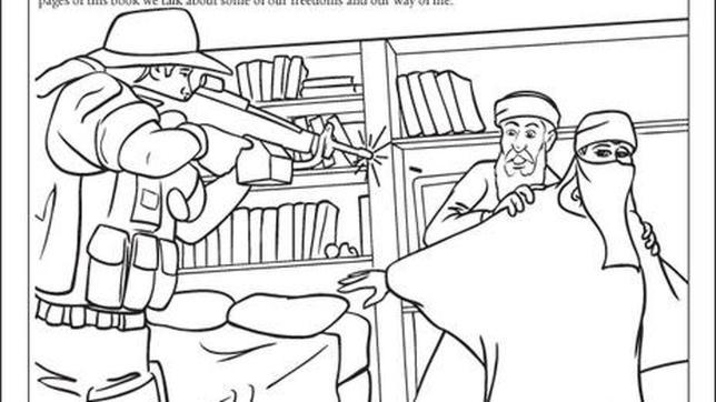 Aprende a colorear con bin laden Coloring book hoodie