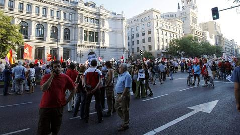 Pocos manifestantes en la marcha