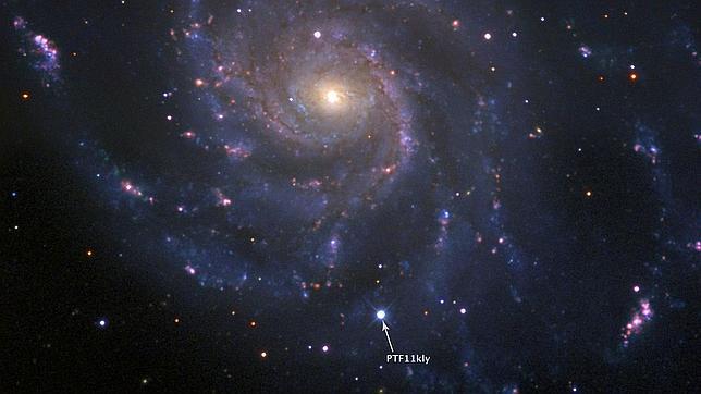 La supernova más brillante en 20 años, vista por aficionados