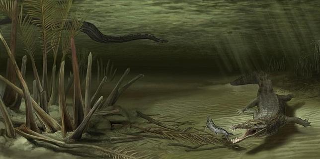 Lucha titánica: cocodrilo gigante vs serpiente gigante