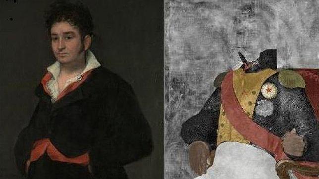El Goya conocido (izquierda) y el descubierto. RIJKSMUSEUM