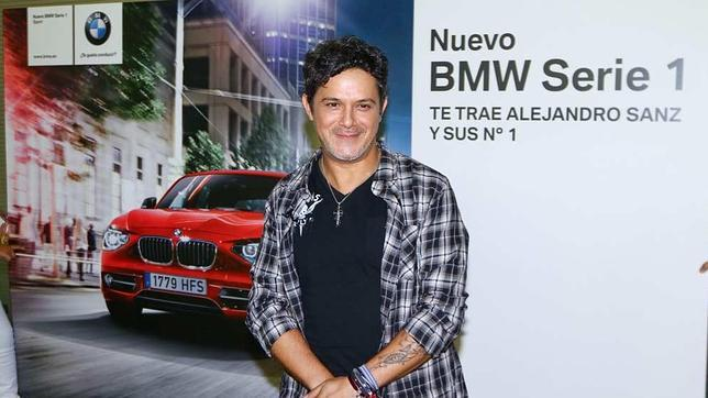 Alejandro Sanz con el Serie 1