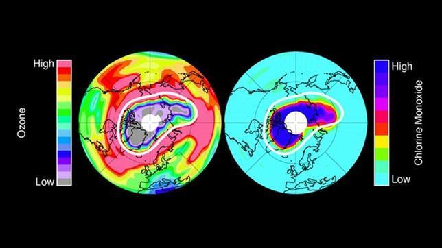 Un agujero gigantesco se abre en la capa de ozono del Ártico