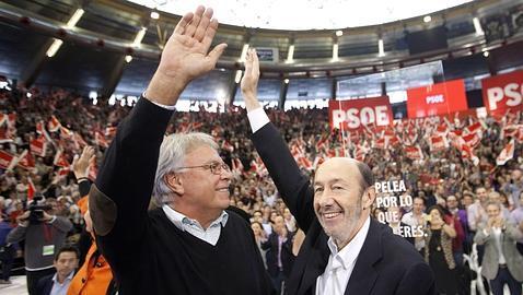 González y Rubalcaba, en Valencia